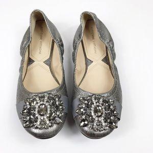 Adrienne Vittadini | Silver Metallic Flats
